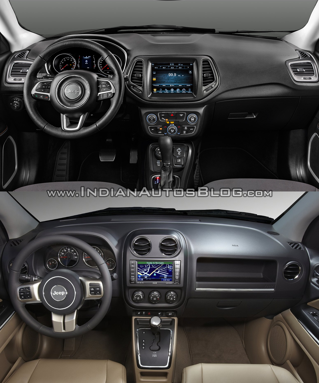 2017 jeep compass vs 2011 jeep compass interior. Black Bedroom Furniture Sets. Home Design Ideas