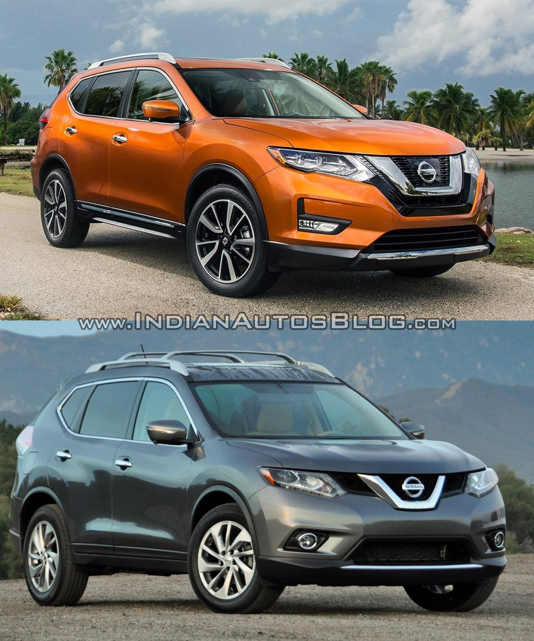 2017 Nissan Rogue (facelift) vs. 2014 Nissan Rogue - Image Gallery front three quarters right side