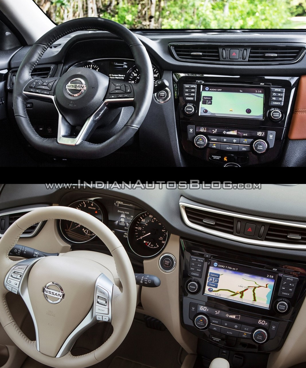 2017 Nissan Rogue Facelift Vs 2014 Nissan Rogue Image Gallery Interior Dashboard Driver Side