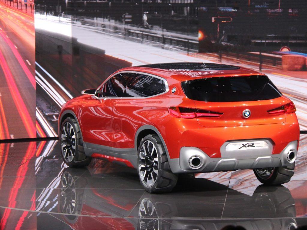 BMW X2 concept rear quarter at 2016 Paris Motor Show
