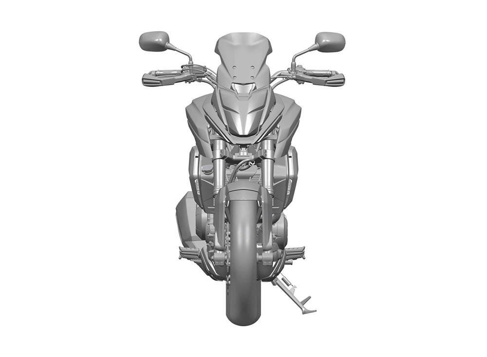 Honda CMX500 front Honda CX-02 production version patent leak