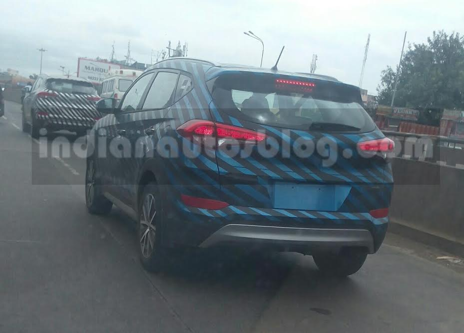 IAB reader snaps the 2016 Hyundai Tucson rear three quarter testing