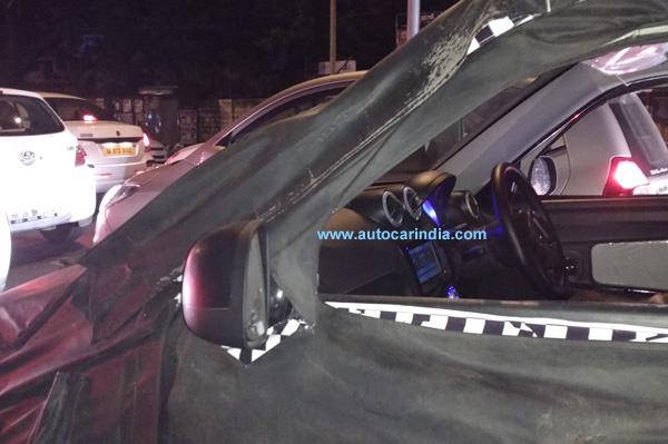 Mahindra e2o 4-door interior spied