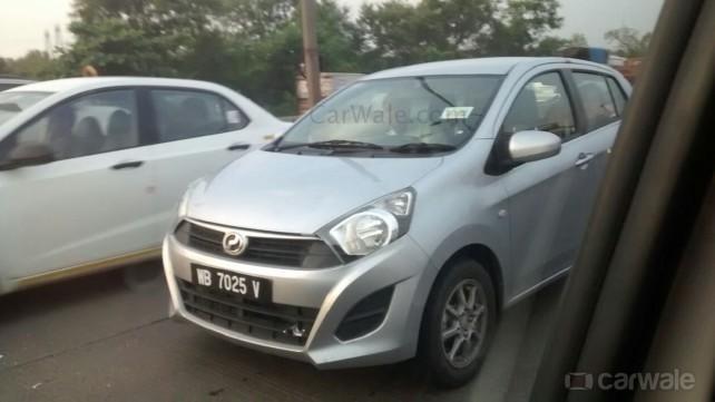 Perodua Axia front spied in Mumbai