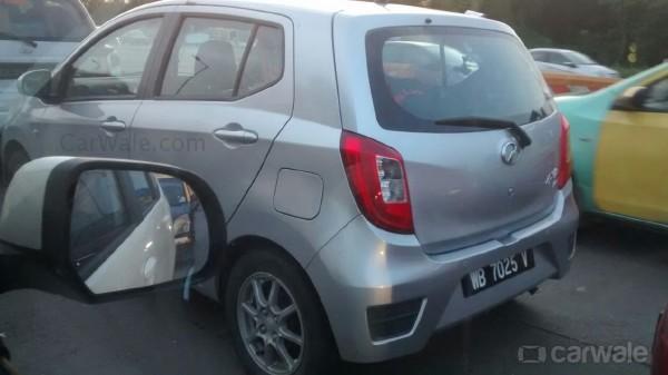 Perodua Axia rear three quarter spied in Mumbai