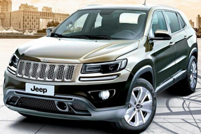 Second-gen Jeep compass (Jeep 551) front three quarters rendering