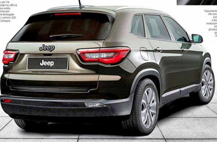Second-gen Jeep compass (Jeep 551) rear three quarters rendering