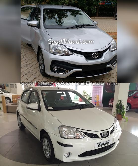 Toyota Etios Liva facelift vs Old model rear Old vs New