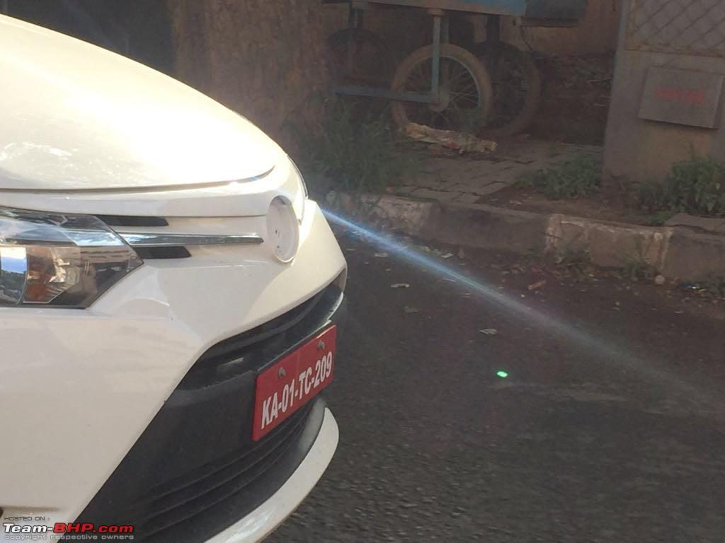 Toyota Vios front spied testing in Bengaluru yet again