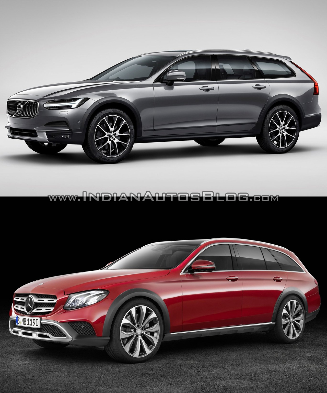 volvo v90 cc vs mercedes e class all terrain in images. Black Bedroom Furniture Sets. Home Design Ideas