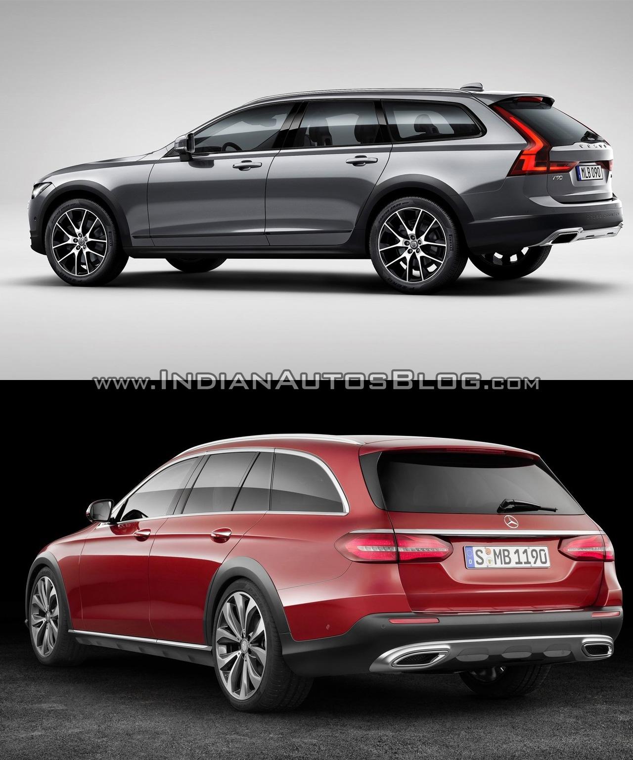 Volvo V90 CC vs Mercedes E-Class All-Terrain - In Images