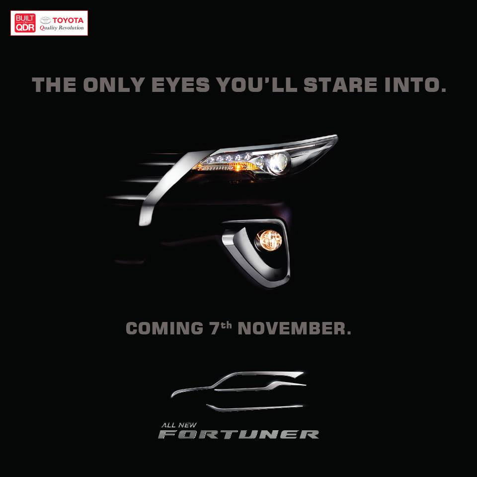 2016 Toyota Fortuner teased India