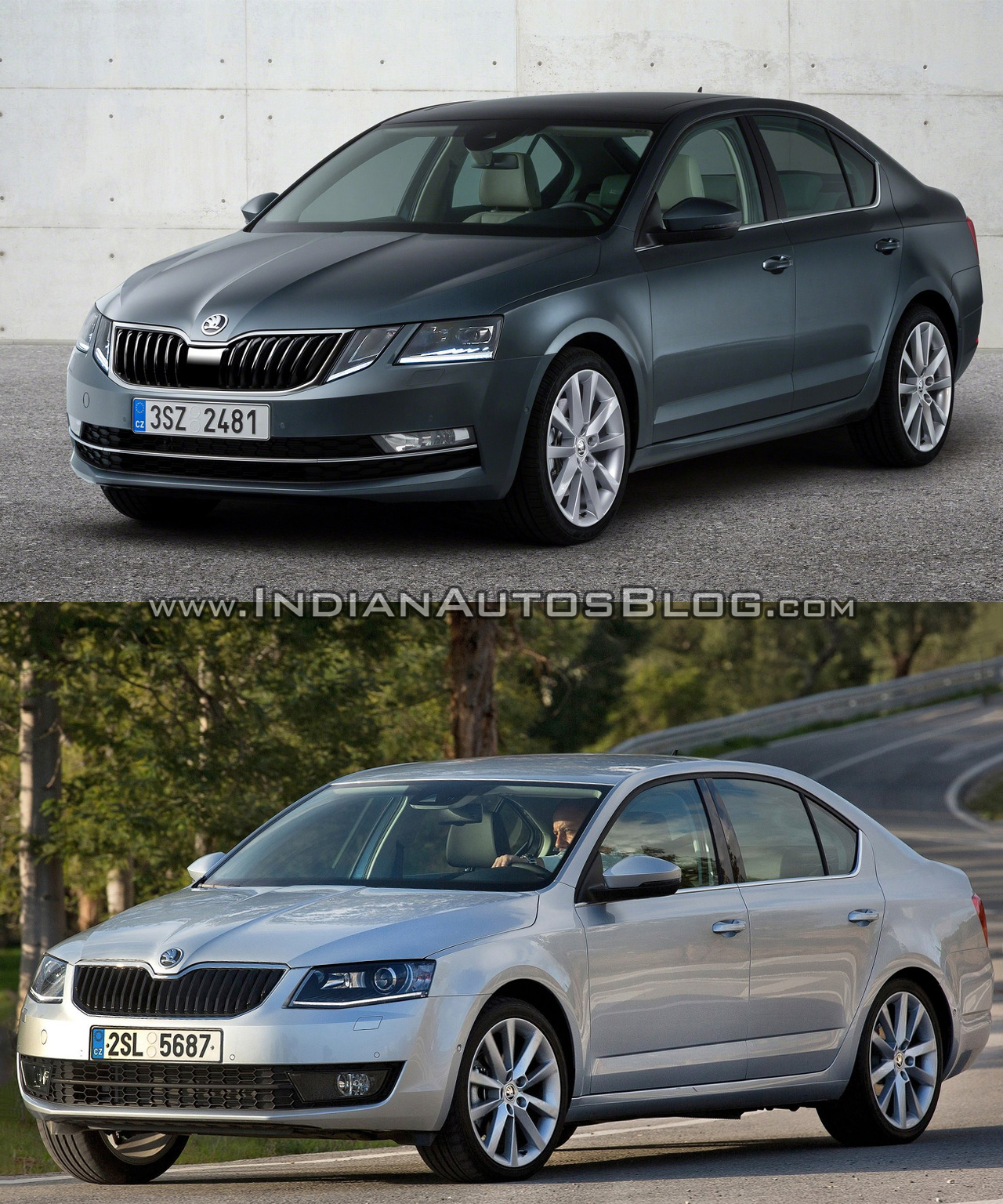 2017 skoda octavia vs 2014 skoda octavia in images. Black Bedroom Furniture Sets. Home Design Ideas