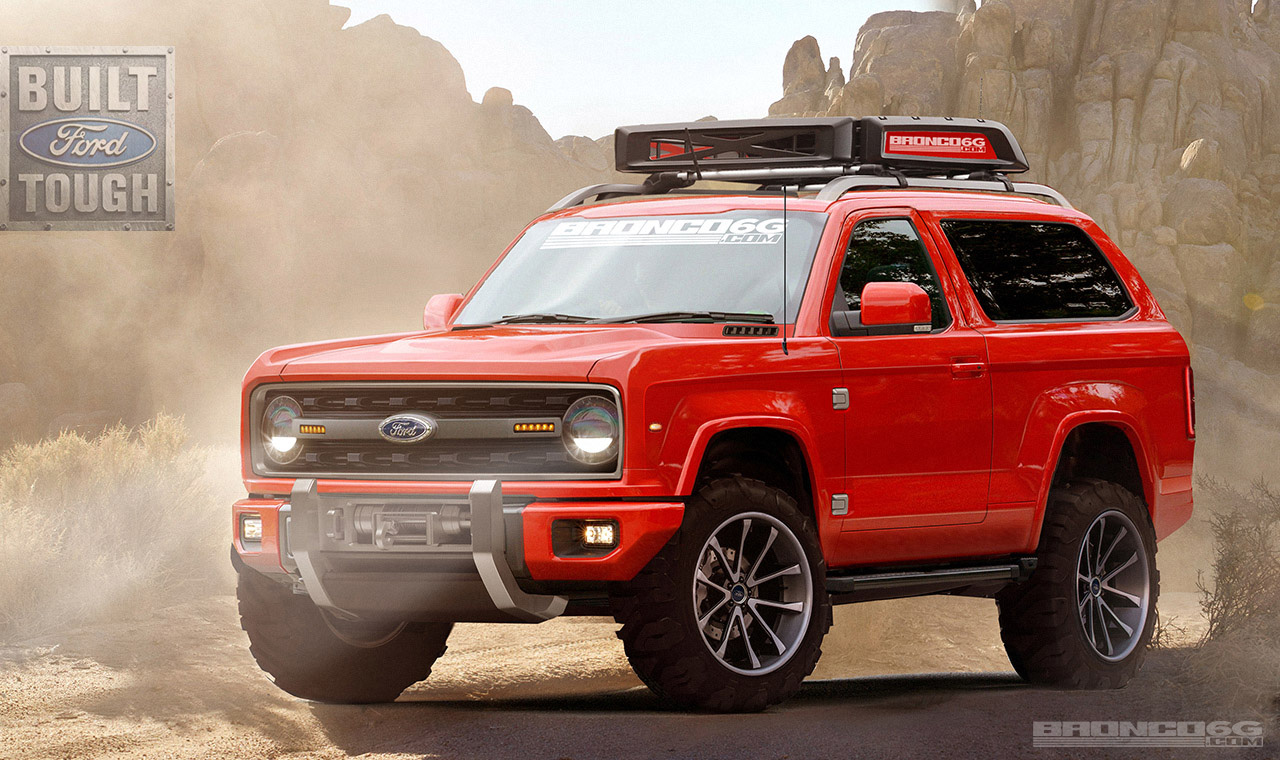 2020 ford bronco front three quarters rendering fifth image
