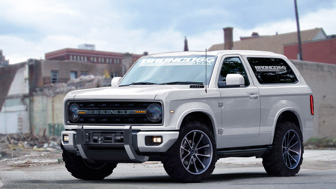 2020 Ford Bronco front three quarters rendering second image