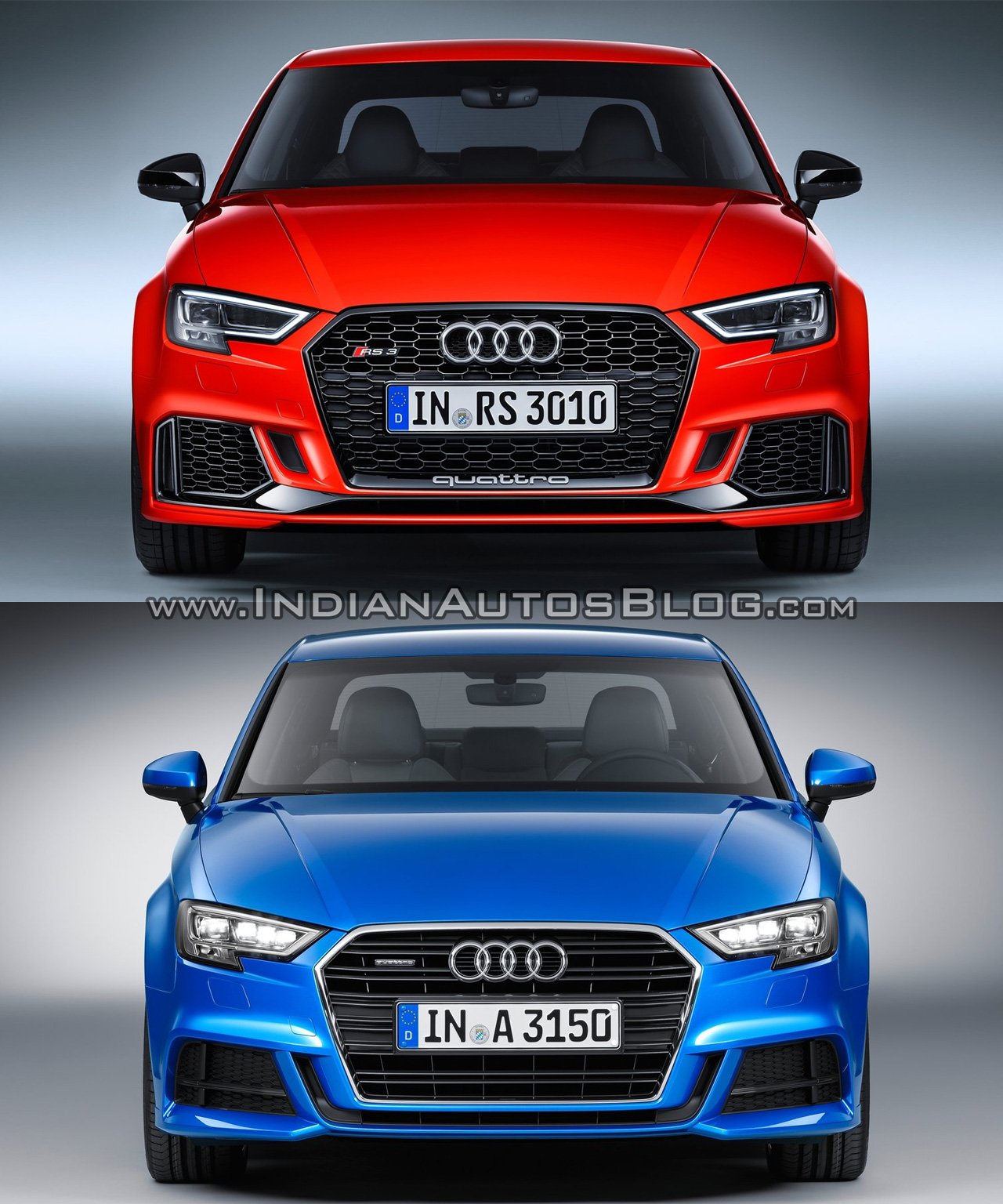 audi rs 3 sedan vs audi a3 sedan front. Black Bedroom Furniture Sets. Home Design Ideas