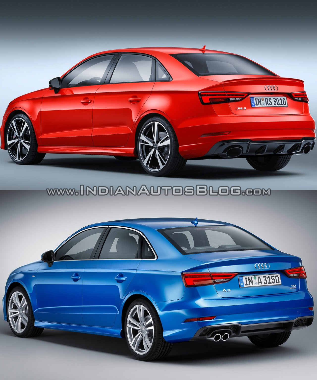 audi rs3 sedan vs audi a3 sedan in images. Black Bedroom Furniture Sets. Home Design Ideas