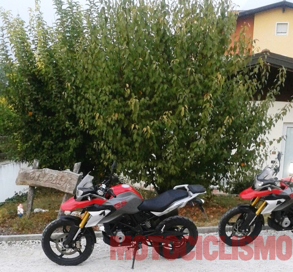 BMW F310 GS (BMW G310R-based adventure tourer) side angle spied