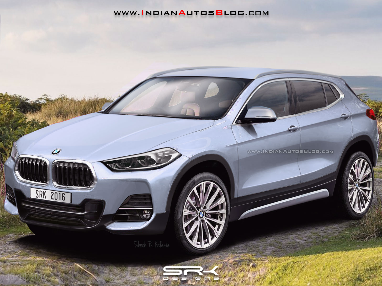 production bmw x2 rendering. Black Bedroom Furniture Sets. Home Design Ideas