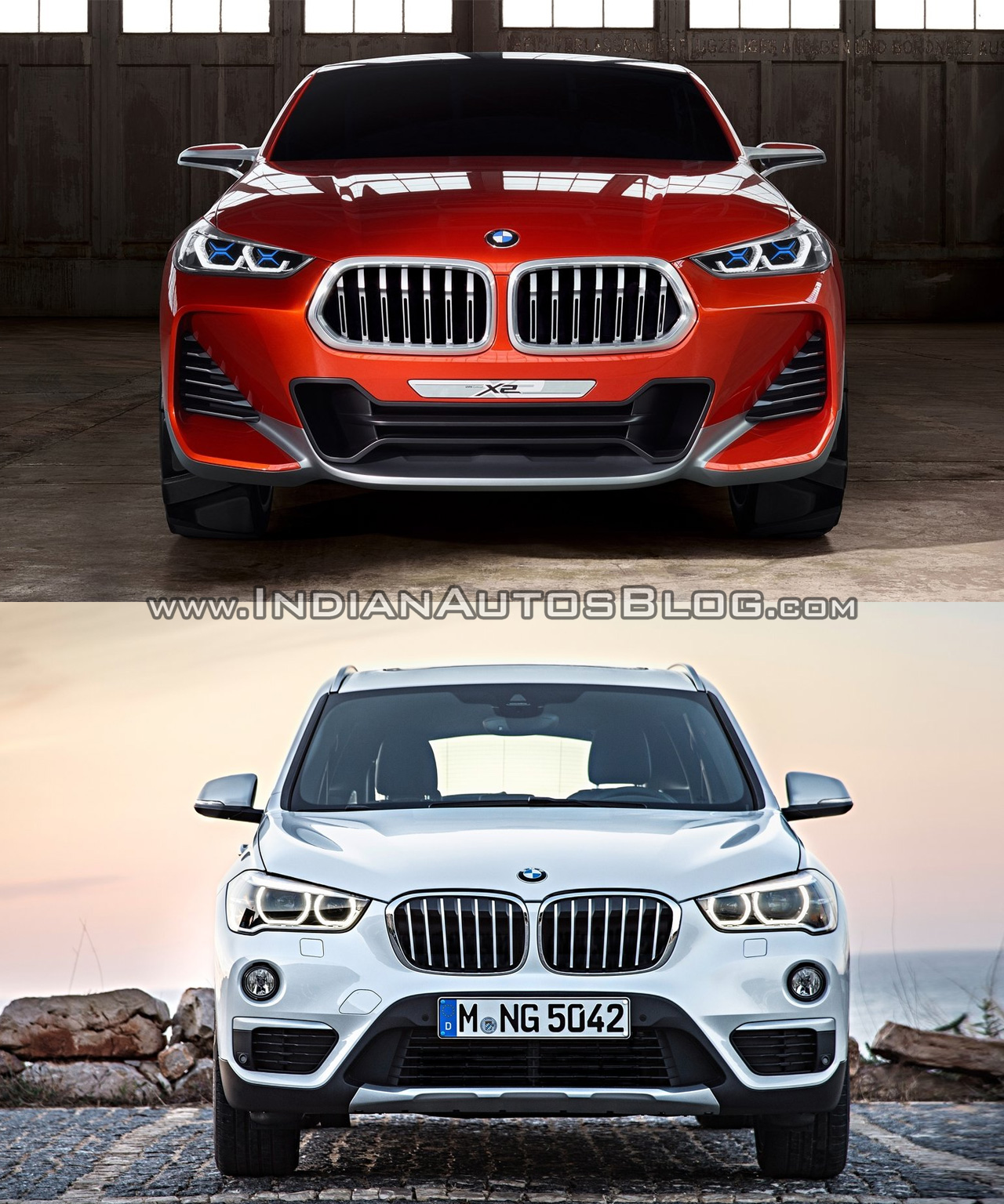 Bmwcarimage: BMW X2 Vs. BMW X1 Front Image