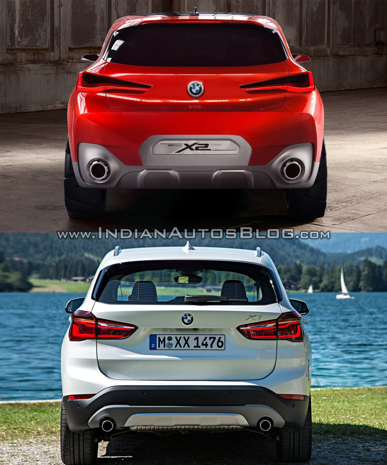 Bmwcarimage: BMW X2 Vs. BMW X1 Rear Image