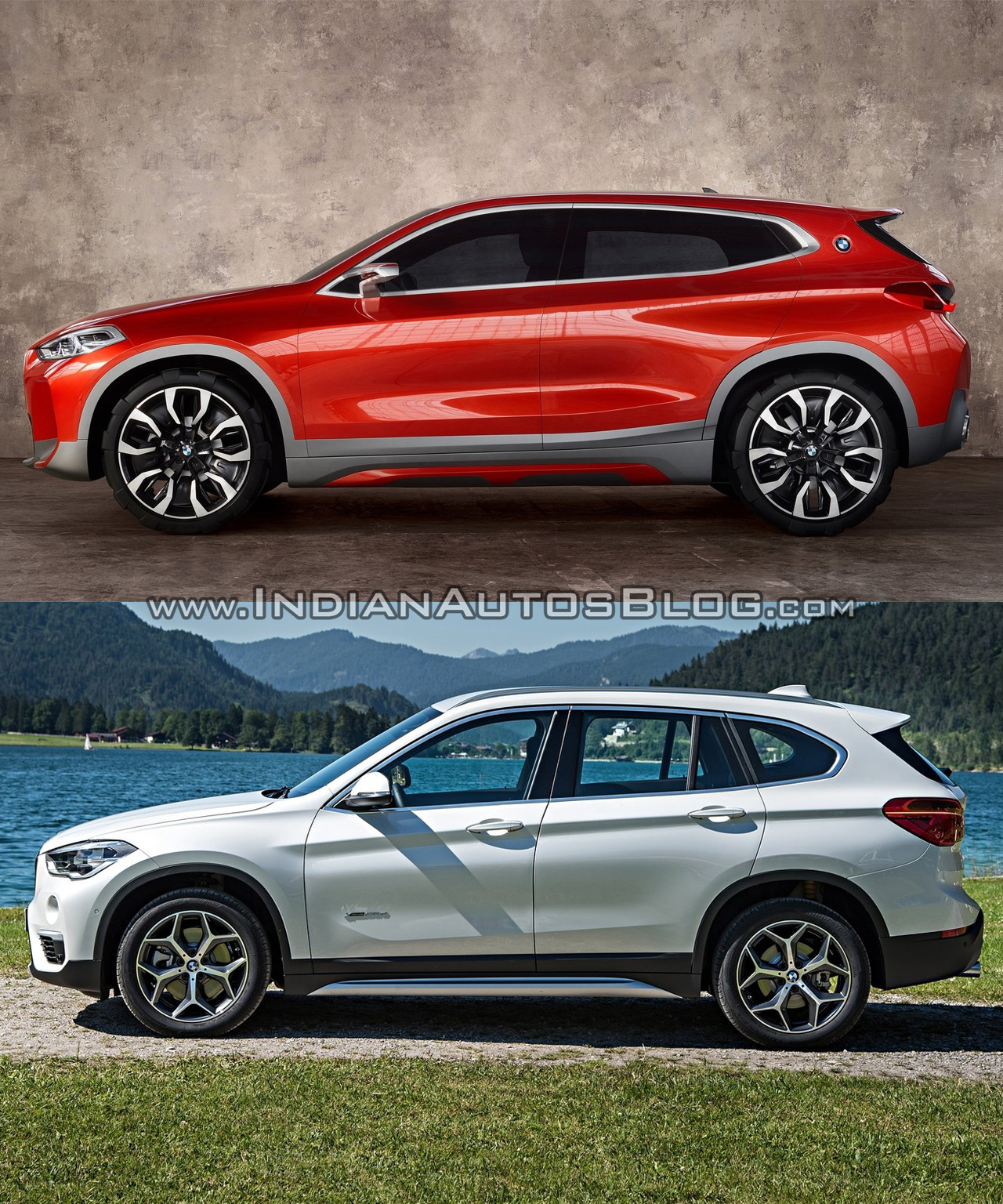 bmw x2 vs bmw x1 in images. Black Bedroom Furniture Sets. Home Design Ideas