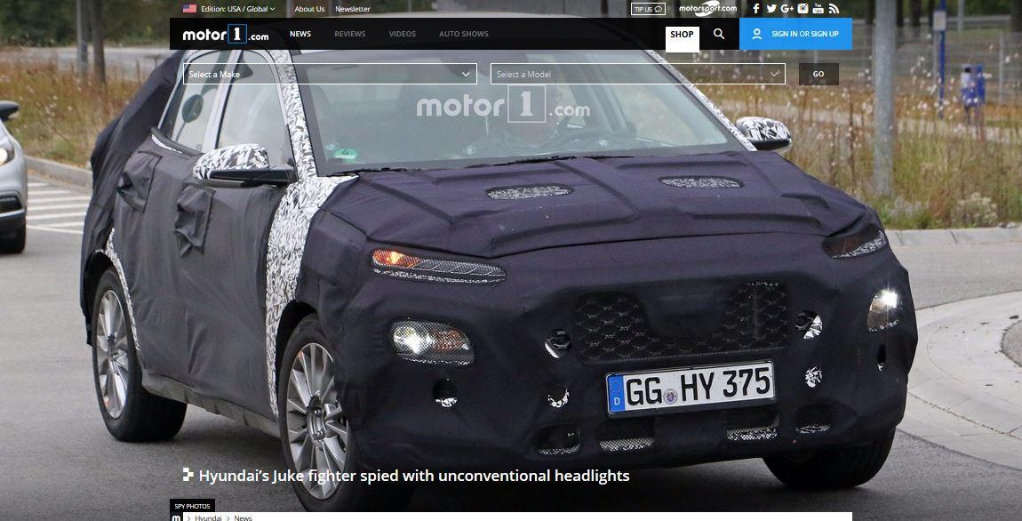 Hyundai i20-based B-segment SUV spy shot