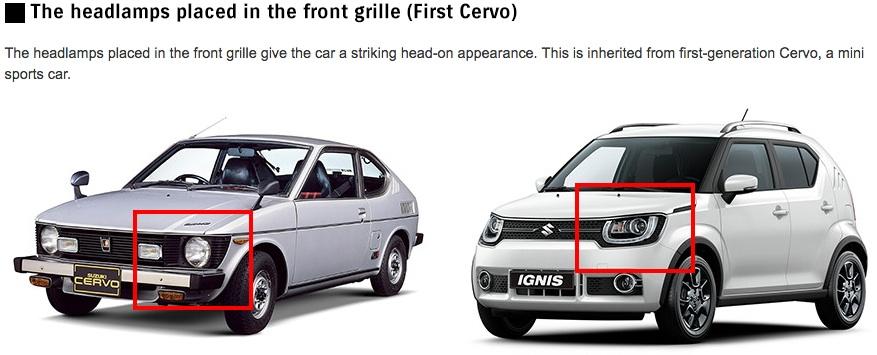 Suzuki Ignis design inspiration grille