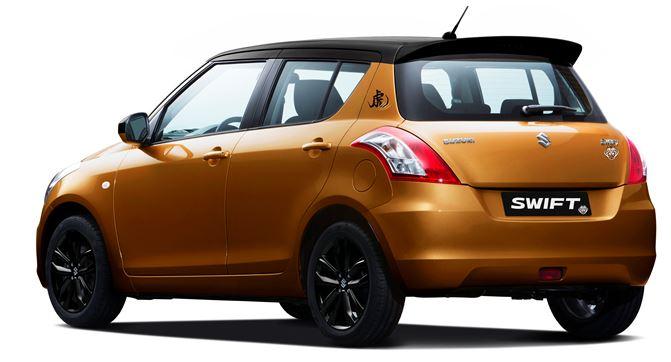 Suzuki Swift Tiger edition rear three quarters