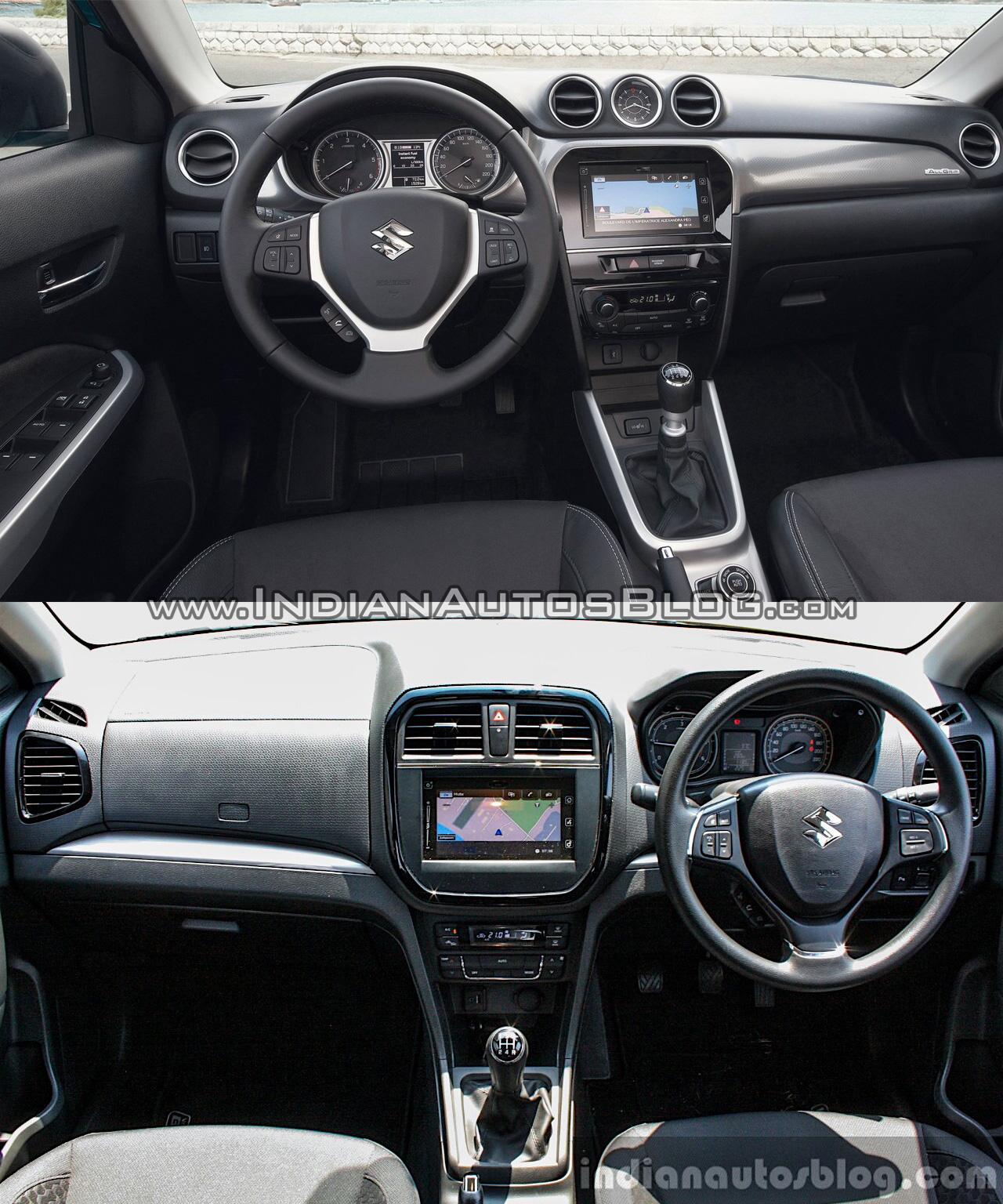 Suzuki Vitara Vs Maruti Brezza Interior