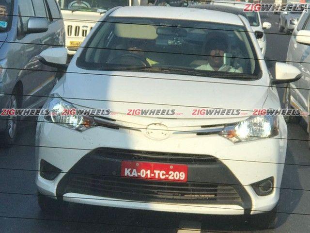 Toyota Vios front spied in Lonavla