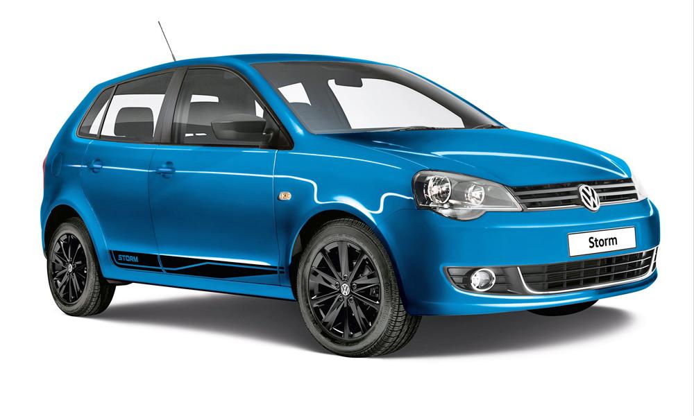 VW Polo Vivo Storm Edition front three quarter