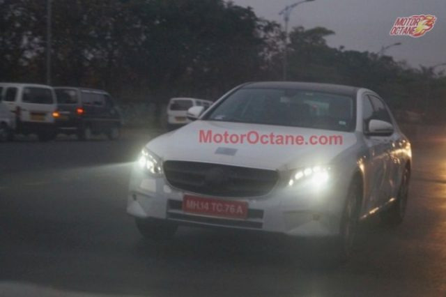 2016 Mercedes E Class (W213) front spied in India