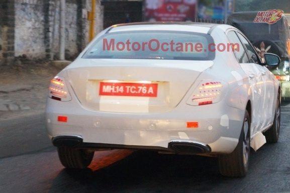 2016 Mercedes E Class (W213) rear spied in India