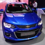 2017 Chevrolet Sonic Hatchback front at 2016 Bogota Auto Show