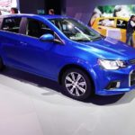 2017 Chevrolet Sonic Hatchback front three quarters at 2016 Bogota Auto Show