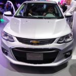 2017 Chevrolet Sonic Sedan front at 2016 Bogota Auto Show