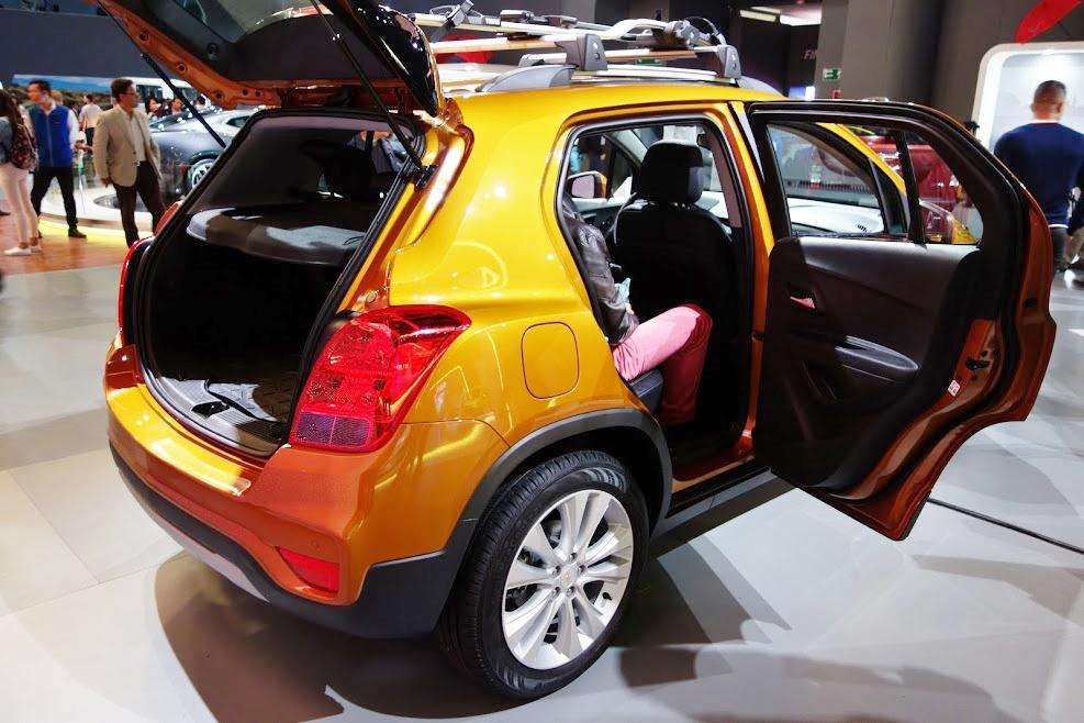 2017 Chevrolet Tracker doors open at 2016 Bogota Auto Show