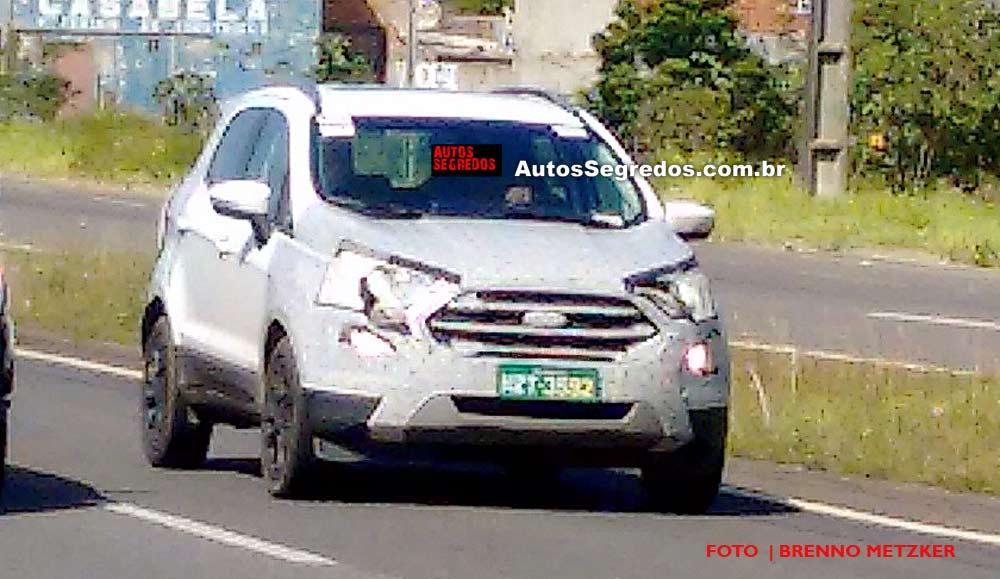 2017 Ford EcoSport (facelift) Brazil spy shot