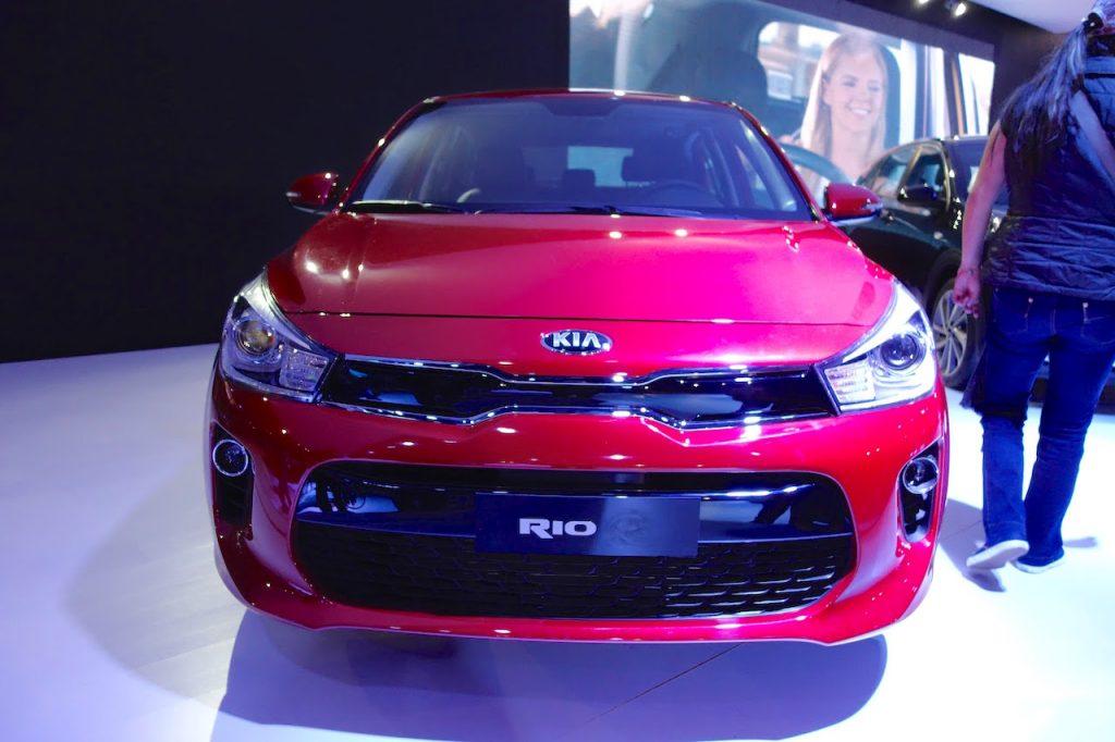 2017 Kia Rio front at the 2016 Bogota Auto Show