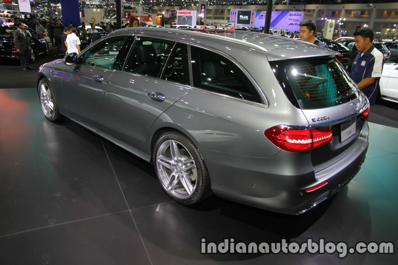 2017 Mercedes E-Class Estate rear three quarters left side at 2016 Thai Motor Expo