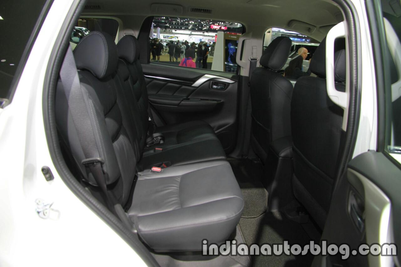2017 Mitsubishi Pajero Sport second-row seats at 2016 Thai Motor Expo