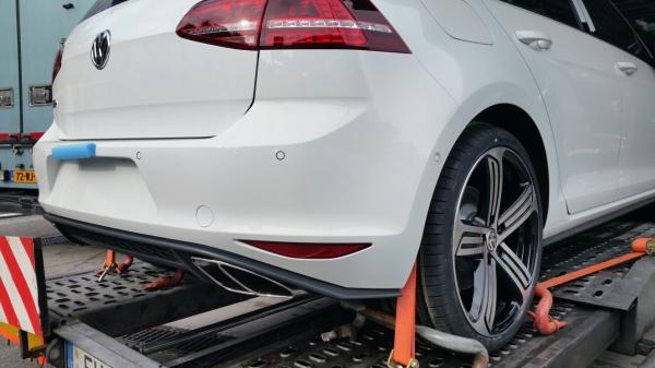 2017 VW Golf GTD rear fascia spy shot