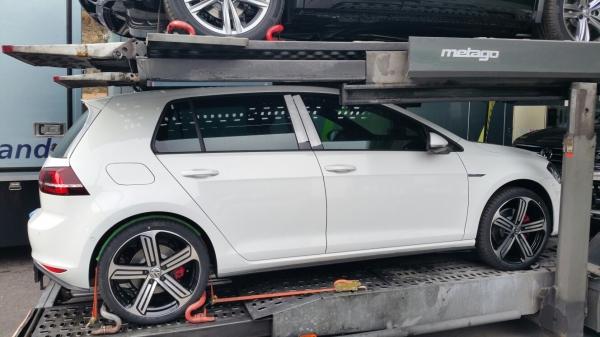 2017 VW Golf GTD right side spy shot