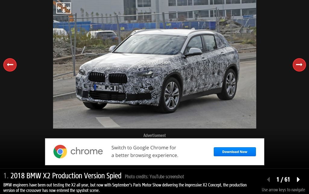 2018 BMW X2 white spy shot front three quarters