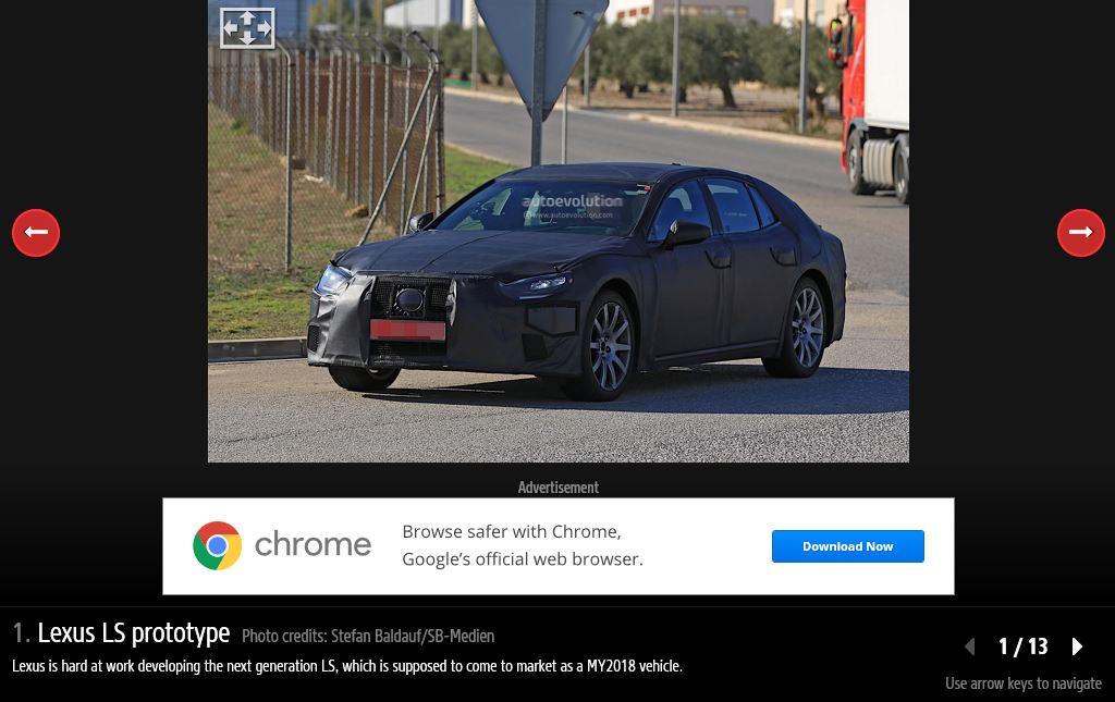 2018 Lexus LS black spy shot front three quarters left side