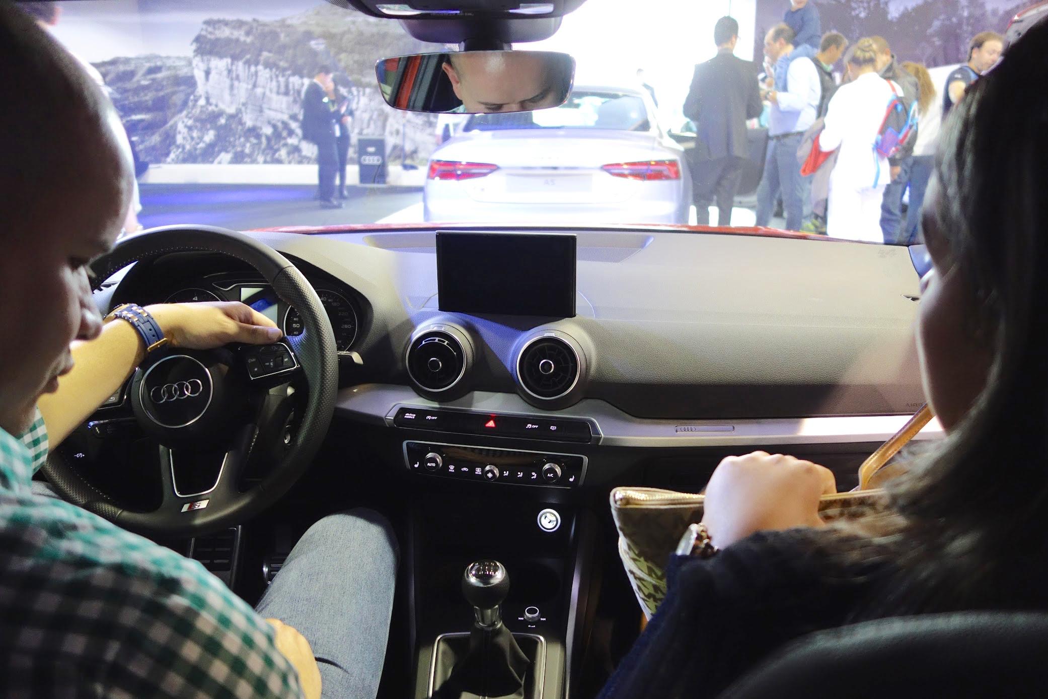 Audi Q2 dashboard at Bogota Auto Show 2016