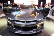 Chevrolet Camaro 50th Anniversary Edition front at 2016 Bogota Auto Show