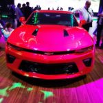 Chevrolet Camaro SS front at 2016 Bogota Auto Show