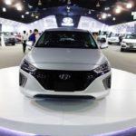 Hyundai Ioniq front at 2016 Bogota Auto Show